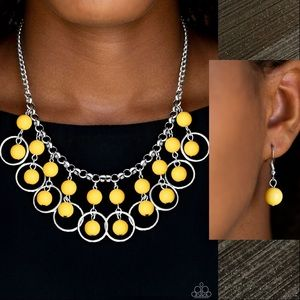 Really Rococo Yellow Necklace Set